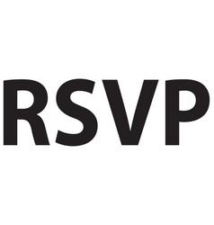 rsvp black vector image