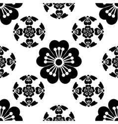 Sakura seamless stylized flower symbolizes the vector