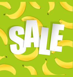 sale background with banana vector image
