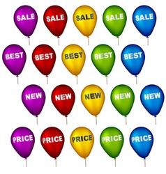Sale party balloons vector