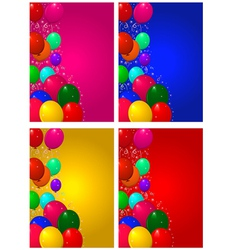 Set backgrounds for birthday vector