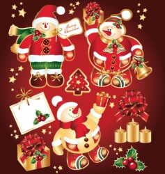 set new year symbols vector image