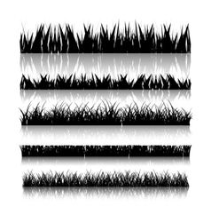 Set with realistica grass vector