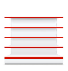 shelves with red front vector image
