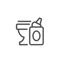 toilet cleaner line icon vector image