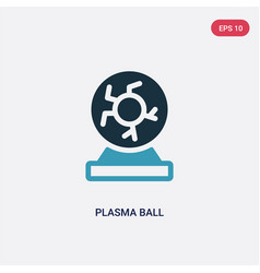 two color plasma ball icon from science concept vector image