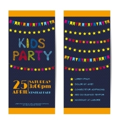 banners invitation cards set Kids party vector image
