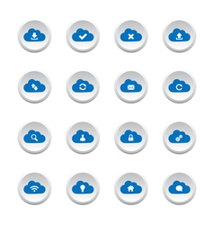 Cloud computing buttons vector image vector image
