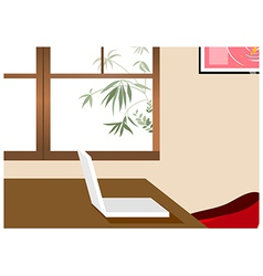 Home Office Laptop Background vector image