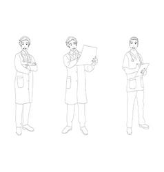Medical Staff Man Full Body vector image vector image