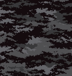 Pixel camouflage stealth black seamless pattern vector image