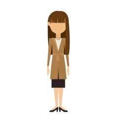 woman in dress and long brunette hair vector image vector image