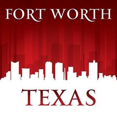 Fort Worth Texas city skyline silhouette vector image