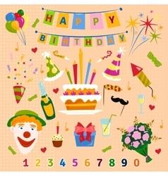 Happy birthday symbols vector
