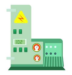 modern industrial machine icon vector image