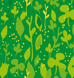 Set of funny leaves Seamless pattern on a green vector image vector image