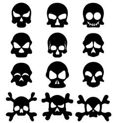 Skull symbol set vector image vector image