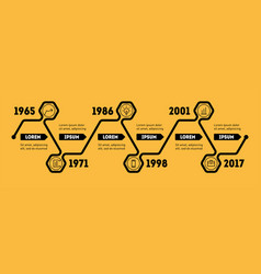 horizontal infographic timeline web template for vector image