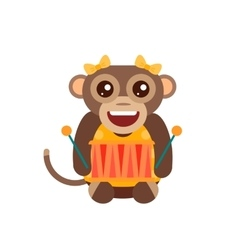 Monkey animal fun character vector image vector image