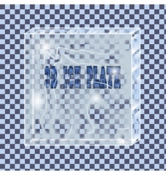 transparent ice plate vector image