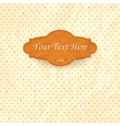 Vintage background of creased old paper vector image