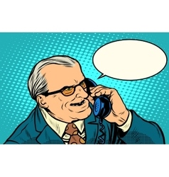 Angry boss talking on the phone vector image