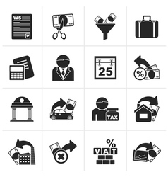 Black Taxes business and finance icons vector image vector image