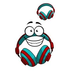 Cartoon DJ headset vector image vector image