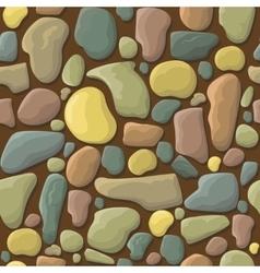 Funny cartoon stones seamless pattern vector image vector image
