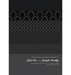 modern wedding invite vector image vector image