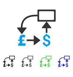 Pound dollar flow chart flat icon vector