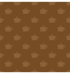 Seamless pattern background with cups vector image vector image