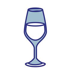 wine bottle drink vector image