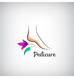 Woman foot pedicure logo Abstract design concept vector image