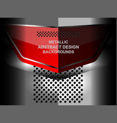 abstract geometric metal background vector image