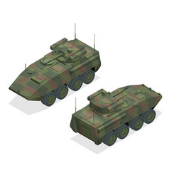 An armoured personnel carrier apc broad type vector