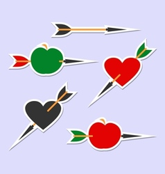 Arrow hits the target vector image