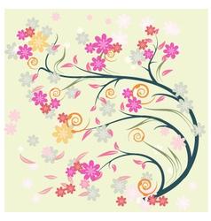 Artistic flower background vector