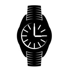 Black wrist watch sign vector