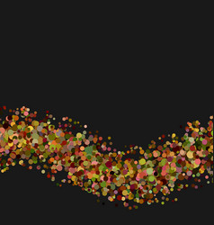 Blank abstract wavy confetti background vector