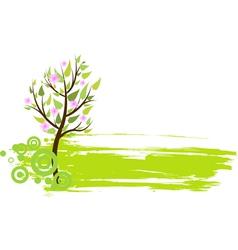 blossom tree grunge vector image