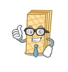 Businessman waffle character cartoon style vector