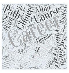 Career Enhancement Basics Word Cloud Concept vector image