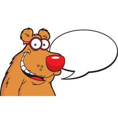 Cartoon Bear Caption vector image
