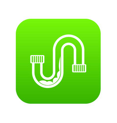 Clog in the pipe icon digital green vector