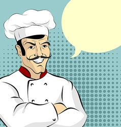 Cook and bubble Cheesy Italian chef says vector image