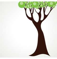 creative green tree vector image