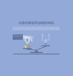 Crowdfunding concept business vector