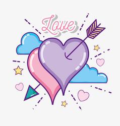 Cute heart symbol vector