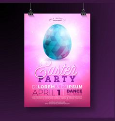 Easter party flyer vector